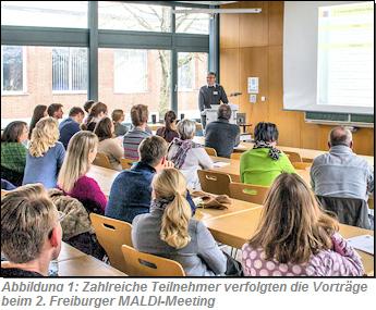 Abb. 1: Zahlreiche Teilnehmer verfolgten die Vorträge beim 2. Freiburger MALDI-Meeting