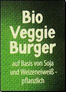 Produktname mit Hinweis auf die pflanzlichen Bestandteile, welche den üblicherweise in Burger enthaltenen Fleischanteil ersetzen