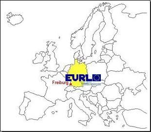 Europakarte mit Standort EURL Freiburg