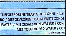 Kennzeichnung: Mit Zusatz von Wasser