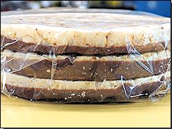 Reiswaffeln mit Schokolade