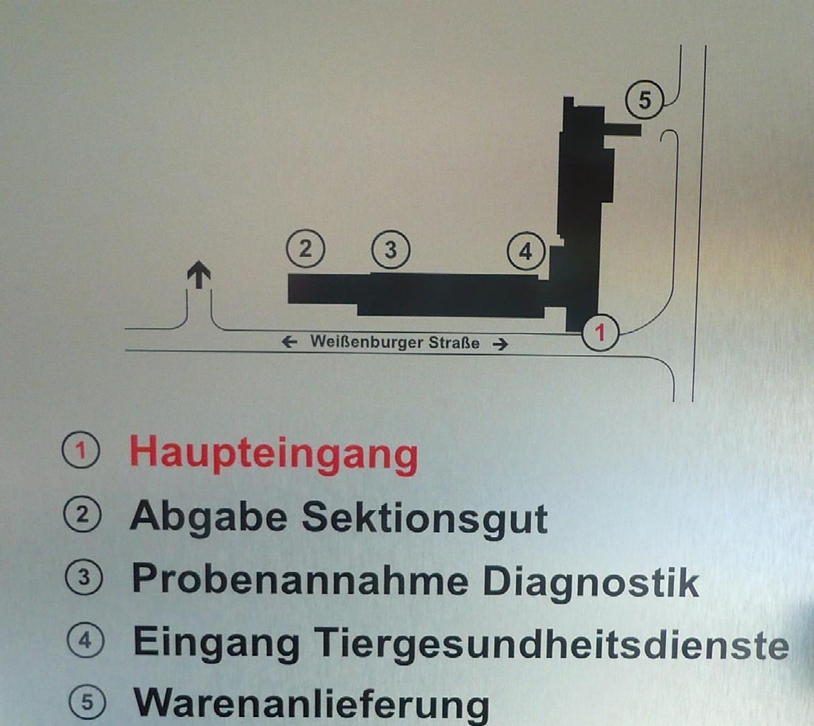 Schematische Anfahrtsskizze des CVUA Karlsruhe