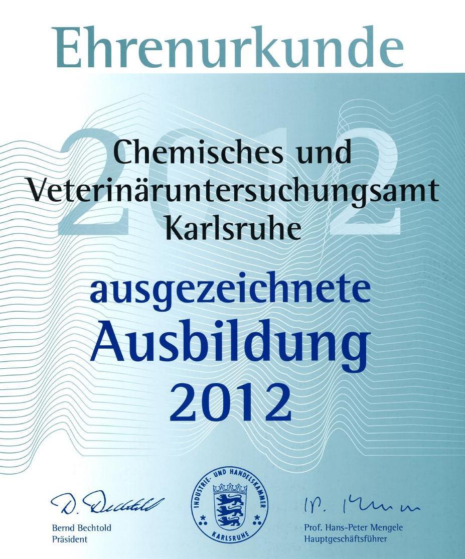 Ehrenurkunde 2012