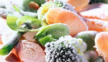 TK-Gemüse mit Eiskristallen