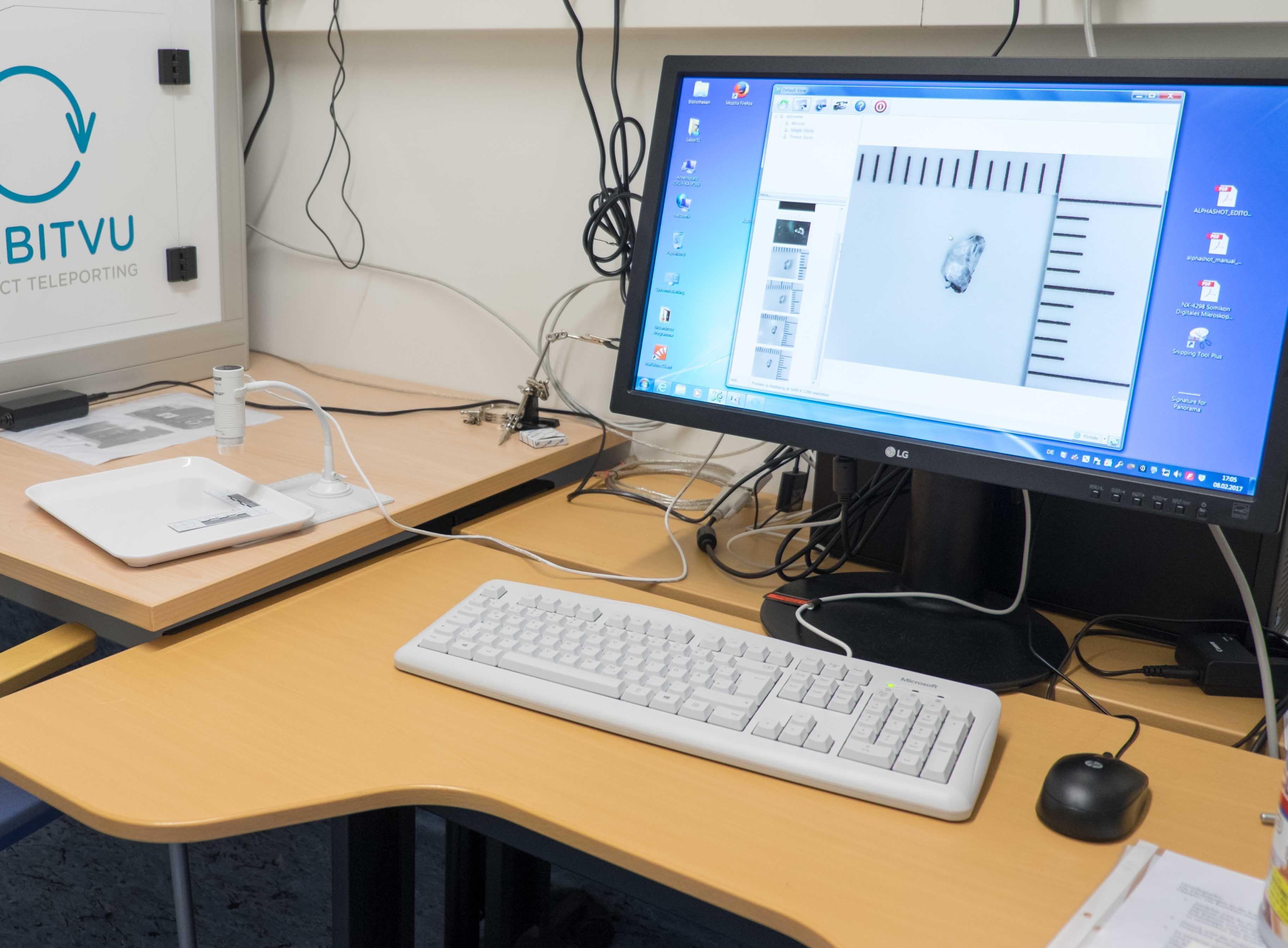 Systemaufbau zur Fremdkörperdokumentation